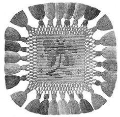 FIG. 595. SQUARE OF MOSAIC MACRAMÉ