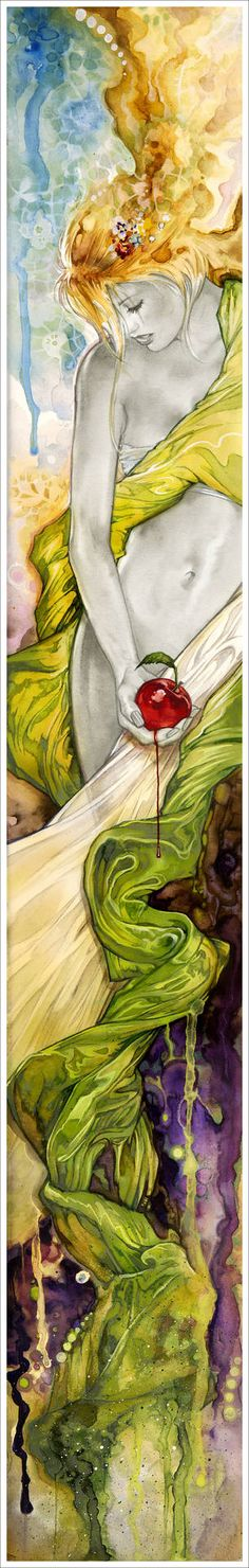 "Saatchi Art Artist: Tom Fleming; Watercolor 2007 Painting ""Eve"""
