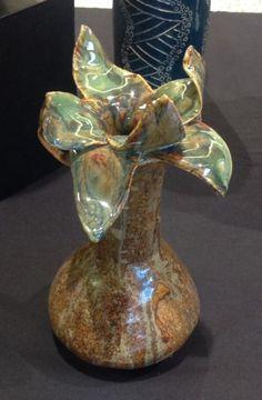 Coil built vase, intro to ceramics