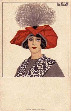 593. Mela Koehler - Wiener Werkstatte postcard