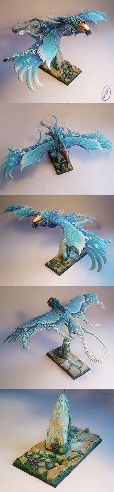 High Elves Frostheart Phoenix painted by AspenOfOcean.