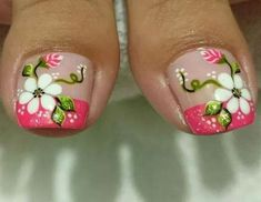 Collection of New Trends of Toe Nail Designs 2019 for Party occasions nails Photo Gallery for girls. Beautiful Toe Nail Designs Pictures 2019 for girls. Elegant Nail Designs, Elegant Nails, Nail Designs Spring, Pedicure Designs, Toe Nail Designs, Nail Designs Pictures, Feet Nails, Toenails, Toe Nail Art