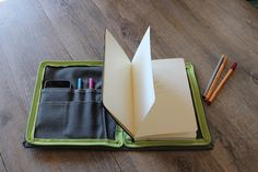 Waxed canvas sketchbook cover traveller by Creazionidiangelina