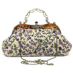Floral Embroidery Vintage Clutch Bag - Was And Now - online shopping with discounted prices Vintage Clutch, Vintage Purses, Vintage Handbags, Baguette, Shanghai, Bridal Handbags, Small Handbags, Floral Embroidery, Learn Embroidery