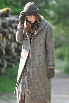 Textured Tweed Pea Coat - Ladies Coats & Jackets | Brora | Style ...