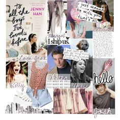 to all the boys i've loved before // dreamcast by pretty-girlintheimpala on Polyvore featuring Belle Fleur, Love Quotes Scarves and Jenny Han