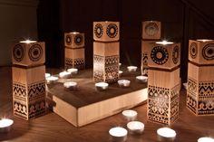 Limited edition Aurinko tea-light holders by Finnish Sanna Annukka