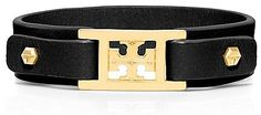 Tory Burch Mini Square Logo Double Snap Bracelet on shopstyle.com
