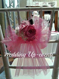 La sedia..dettaglio, tulle e pasta di carta made Wedding Up-eventi