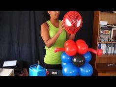 Spider-Man balloon decoration idea with tutorial. Join Tanya from Ask Me For A Balloon and learn how to create a cool balloon column for a Spiderman themed p. Ballon Decorations, Balloon Centerpieces, Birthday Party Decorations, Baloon Diy, Spiderman Balloon, College Bedroom Decor, Party Hacks, Party Ideas, Balloon Columns