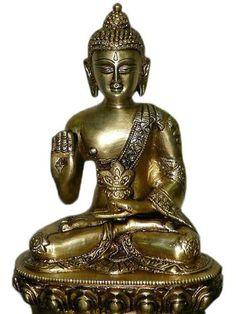 Abhaya Mudra Buddha Pose Figurine Decoration Statue Sitting Buddha Altar Statue Buddhism by Mogul Interior, http://www.amazon.com/gp/product/B0040ACB4Y/ref=cm_sw_r_pi_alp_3w3wqb0393RJS