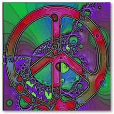 purple peace- much deeper than the 60's peace sign.  :-)