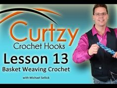 Crochet Lesson #13. Create a basket weave stitch using this tutorial. I teach you what the magic counts are in order to make the afghan or scarves as long as you want to make it for yourself. Learn how to make the basket weave stitch with crochet.    Welcome: Michael Sellick aka Mikey. Many patterns as seen on our YouTube Channel can be found on The Crochet Crowd Web...
