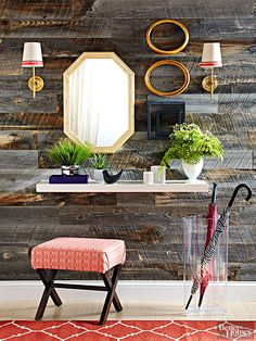 You don't need to spend a lot of money on décor to keep your home up-to-date and stylish! Find out how you can make these popular décor items for way cheaper than you'll find in store. These fabulous DIY projects include mercury glass, geometric rugs, plank walls, and more! #diy #homedecor #diyhomedecor