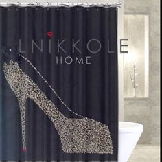 Luxury Rhinestone Shower Curtains And Home Decor By LNikkoleHome