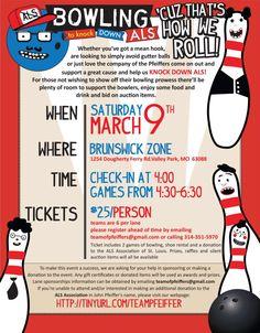 Bowling Fundraiser #flyer #design