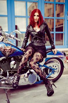 This biker looking cool yet sexy. Shoes style : Atreides by Hades    http://pariscoco.com/hades-footwear?product_id=167