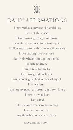 Spiritual Manifestation, Manifestation Journal, Positive Self Affirmations, Positive Quotes, Morning Affirmations, Journal Writing Prompts, Self Care Activities, Affirmation Quotes, Self Improvement Tips