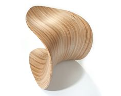 Leaf Stool (wooden chair), Birch - Jolyon Yates