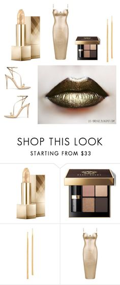 """All That Glitters"" by heartsabustin ❤ liked on Polyvore featuring beauty, Burberry, Bobbi Brown Cosmetics, Gorjana, Gianvito Rossi, contest, outfit and glitter"