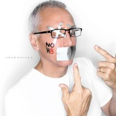 Dr. Drew - See more: http://www.noh8campaign.com/photo-gallery/familiar-faces/photo/...