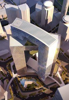 Original design for CITiC Ruibo towers in Shanghai, China.