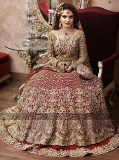 Barat bride ( designer is republic women's wear) Bridal Mehndi Dresses, Asian Bridal Dresses, Asian Wedding Dress, Pakistani Wedding Outfits, Indian Bridal Outfits, Bridal Dress Design, Wedding Dresses For Girls, Pakistani Wedding Dresses, Designer Wedding Dresses