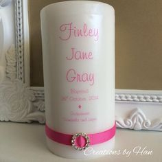 Personalised candles, all occasion invites, garlands and more!