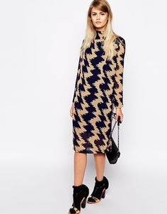 Buy The Laden Showroom X Paisie Zig Zag High Neck Shift Dress at ASOS. With free delivery and return options (Ts&Cs apply), online shopping has never been so easy. Get the latest trends with ASOS now. Shift Dresses, Nice Dresses, Work Fashion, Latest Fashion Clothes, Mod Dress, Material Girls, Costume Dress, Online Shopping Clothes, Playing Dress Up