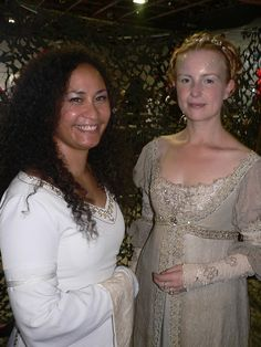 Éowyn's white gown and Danielle's Breathe gown