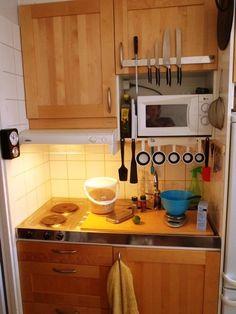 9 tiny apartments...And I thought I had a small kitchen!