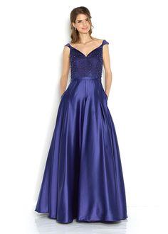 ffc1c3af317d Společenské modré šaty se zdobeným živůtkem Jora Damaris. Plesové Šaty