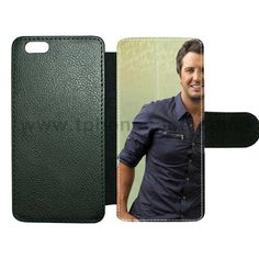 iPhone 5 5s SE cover made by leather with card hold Design With luke bryan