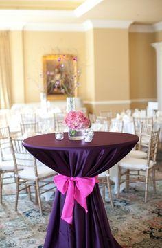 floral print, classic, decor, decoration, decorations, pink, purple, reception, table, tables, wedding, North Carolina