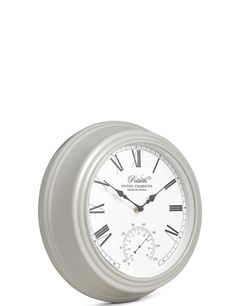 M&S Wall Clock - Time and Temp