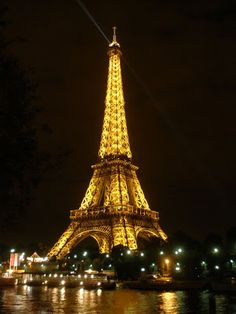 Eiffel Tower Champ de Mars is located in the field side of the River Seine, Paris City, Country French. Eiffel Tower (in French: Tour Eiffe. Eiffel Tower At Night, Paris Eiffel Tower, Eiffel Towers, Tour Eiffel, Saint Tropez, Travel Around The World, Around The Worlds, Louvre Museum, Pont Du Gard