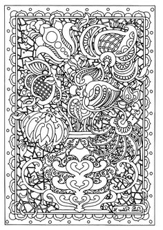 Free coloring page coloring difficult symmetry tournesols