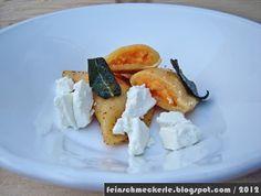 Ravioli mit Süßkartoffeln und friesischem Ziegenkäse