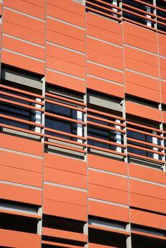 NBK™ Terracotta Facade Panels by Hunter Douglas Architectural Building Exterior, Building Facade, Window Detail, Solar Shades, Student House, Corten Steel, Facade Design, Cladding, Interior Architecture