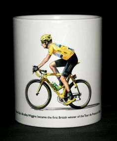 Cycling Mug. Bradley Wiggins, 2012 Tour de France Winner in Collectables, Kitchenalia, Mugs Bradley Wiggins, Jaguar E Type, Freelance Illustrator, Cycling, Tours, Bike, Ebay, Products, Profile