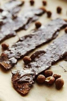 Sweet and Spicy Nutella-Coated Bacon pairs well with a Barleywine or other Strong Ale.