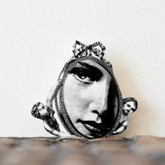 through the looking glass brooch