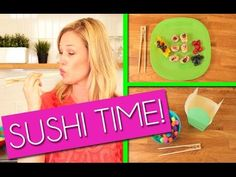 Kid Friendly Chopsticks, Fruit Sushi and Game! | Kids Outside The Box