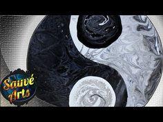 Fluid Acrylic Painting - Hard Edge Technique: Yin Yang! - YouTube
