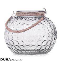 Lampion szklany bezbarwny 21 cm-dukapolska.com-35 Home And Garden, Jar, Home Decor, Decoration Home, Room Decor, Jars, Drinkware, Interior Decorating