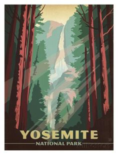 Yosemite National Park Posters by Anderson Design Group - AllPosters.co.uk 33x43cm (31x41cm without frame) 14.99