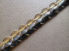 Antique French silk  ribbon Trim  Pasamaneria por ElTallerAnaGaspar
