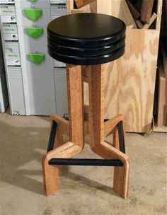 Charming Woodworkers Journal : Portable Power Tools : Build A Solid Wood Bar Stool