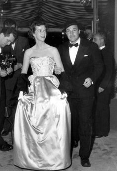 Gene Kelly and Betsy Blair at the premiere of Marty. They were married from 1941-1957 and had one daughter named Kerry.