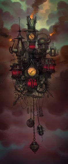 ☆ The Floating architecture of the Hatter's Domain -::- Artist Luis Melo ☆
